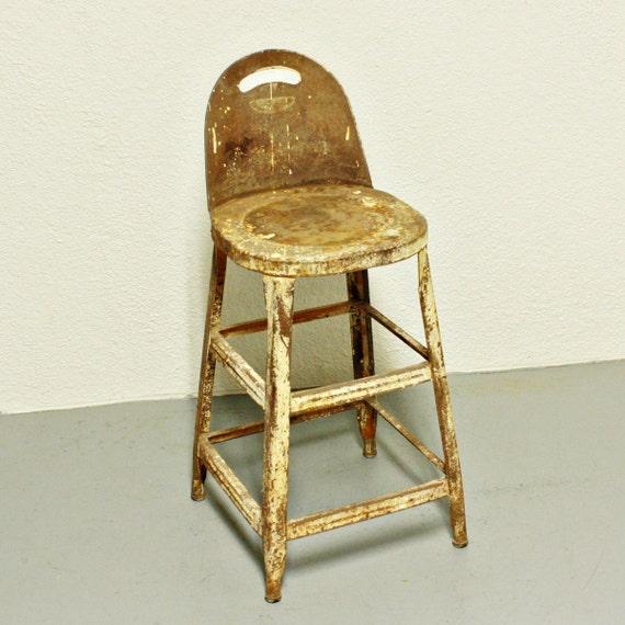 vintage stool metal kitchen stool seat industrial