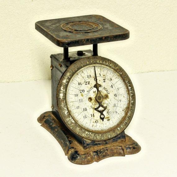 Antique Kitchen Scale: Vintage Scale Kitchen Scale Pelouze Family Scale 24 Lbs