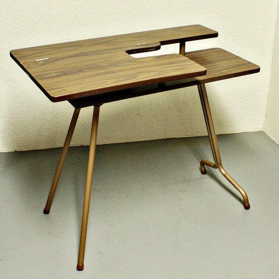 Vintage Sewing Table Sewing Machine Table Pfaff 297 Wood