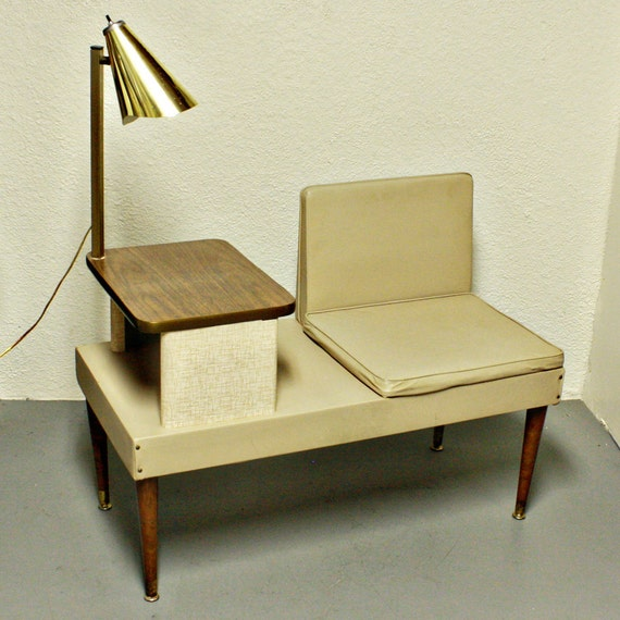 Vintage Telephone Seat Telephone Bench By Oldcottonwood On