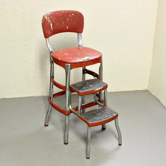 Vintage stool step stool kitchen stool Cosco by OldCottonwood