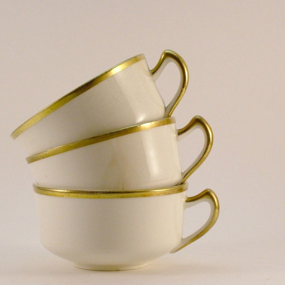 3 vintage 18 carat gold coffee cups - was 919 now 585