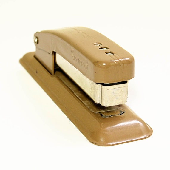 RESERVED for mengji liu ----- Vintage stapler - Swingline - Cub - tan brown