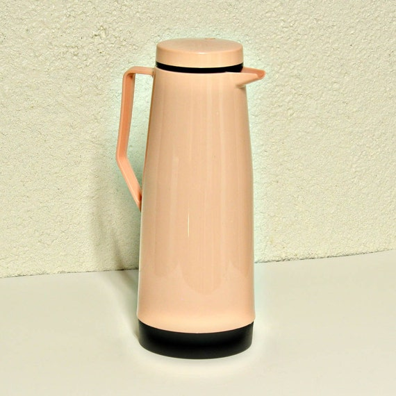 Vintage Coffee Pitcher - Tea - Thermos - pink - plastic