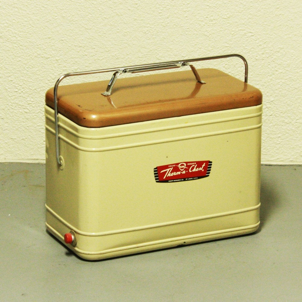 Vintage Cooler Therm A Chest Ice Chest Knapp By Oldcottonwood