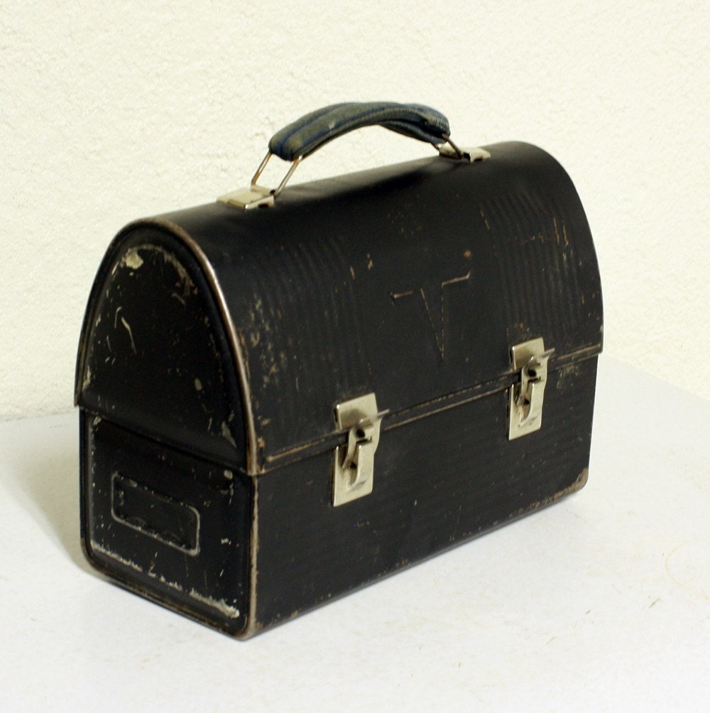 Vintage lunch box lunch pail lunch bucket by oldcottonwood