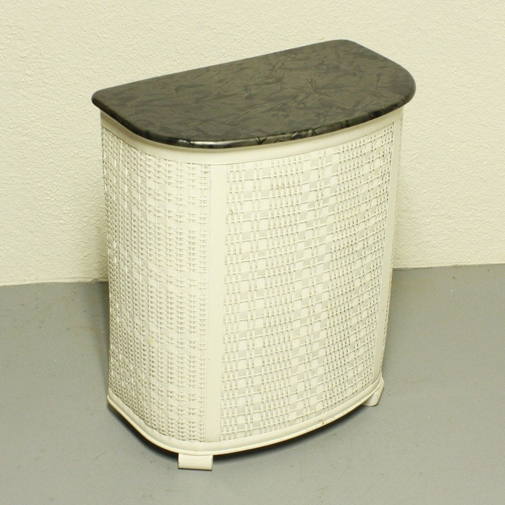 Vintage Clothes Hamper Laundry Hamper Pearl Wick Wicker