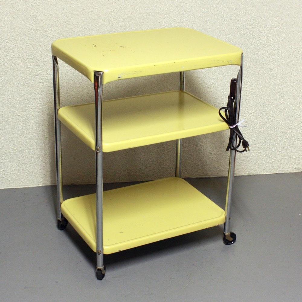 Vintage Metal Cart: Vintage Metal Cart Serving Cart Kitchen Cart By OldCottonwood
