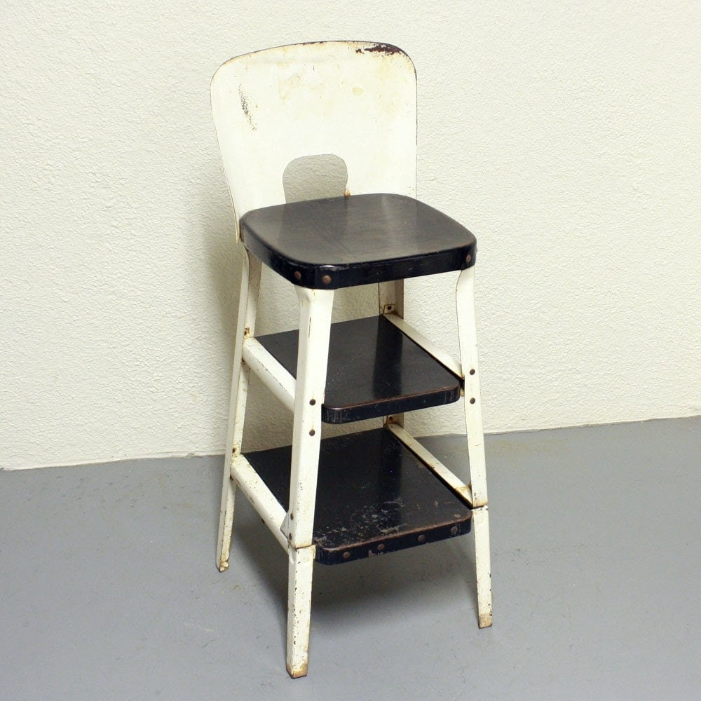 Vintage Stool Step Stool Kitchen Stool Chair Pull Out