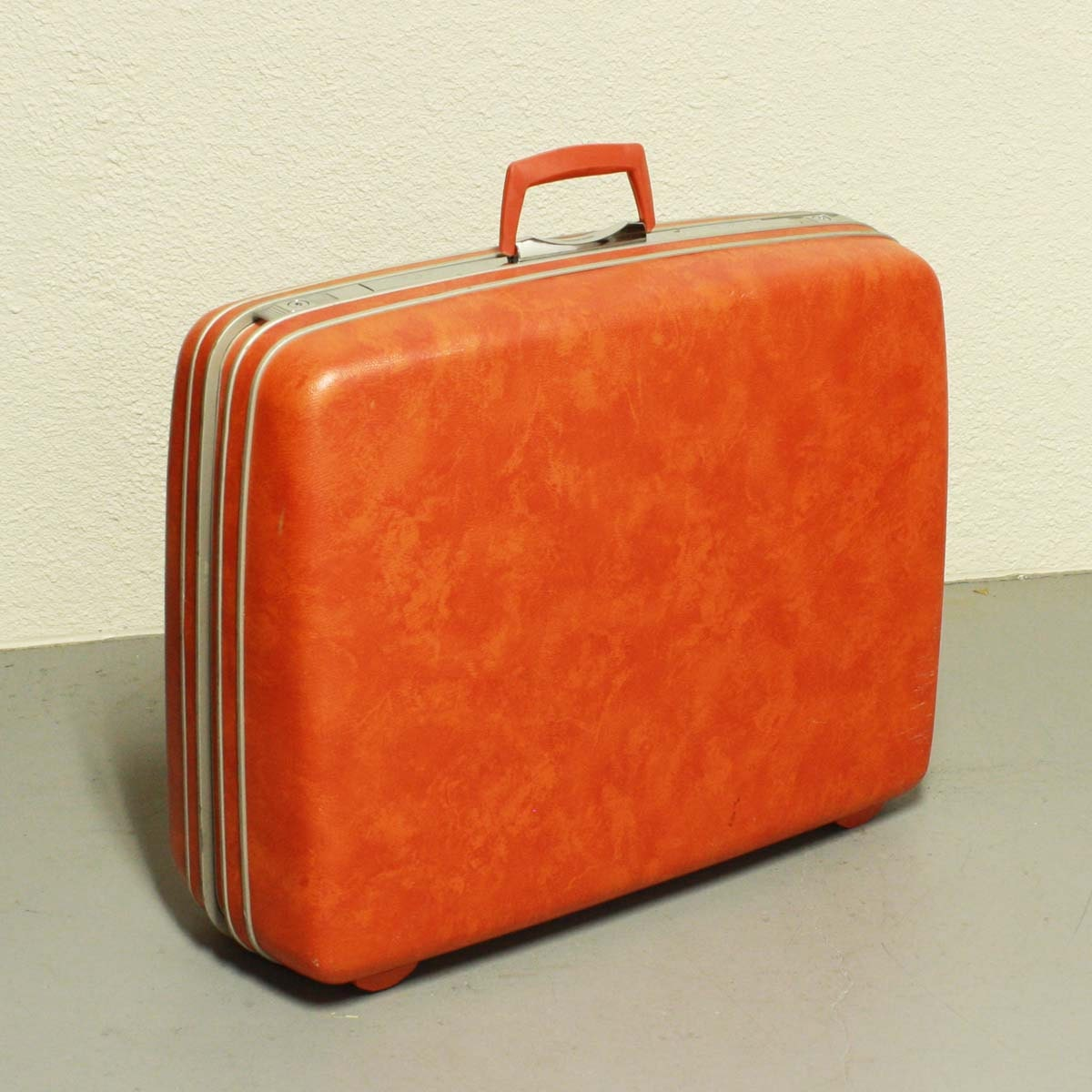 Vintage Suitcase Samsonite Silhouette Luggage Orange