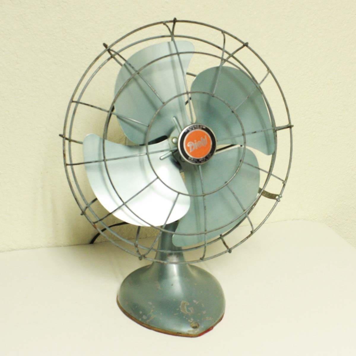 vintage electric fan diehl 2 speed metal blade light