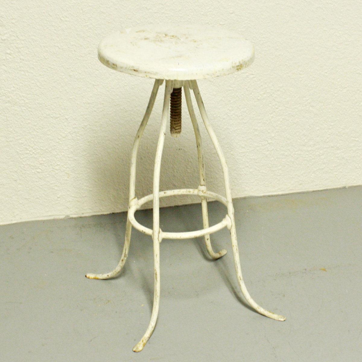 Vintage stool screw top swivel seat metal seat - Screw top bar stools ...