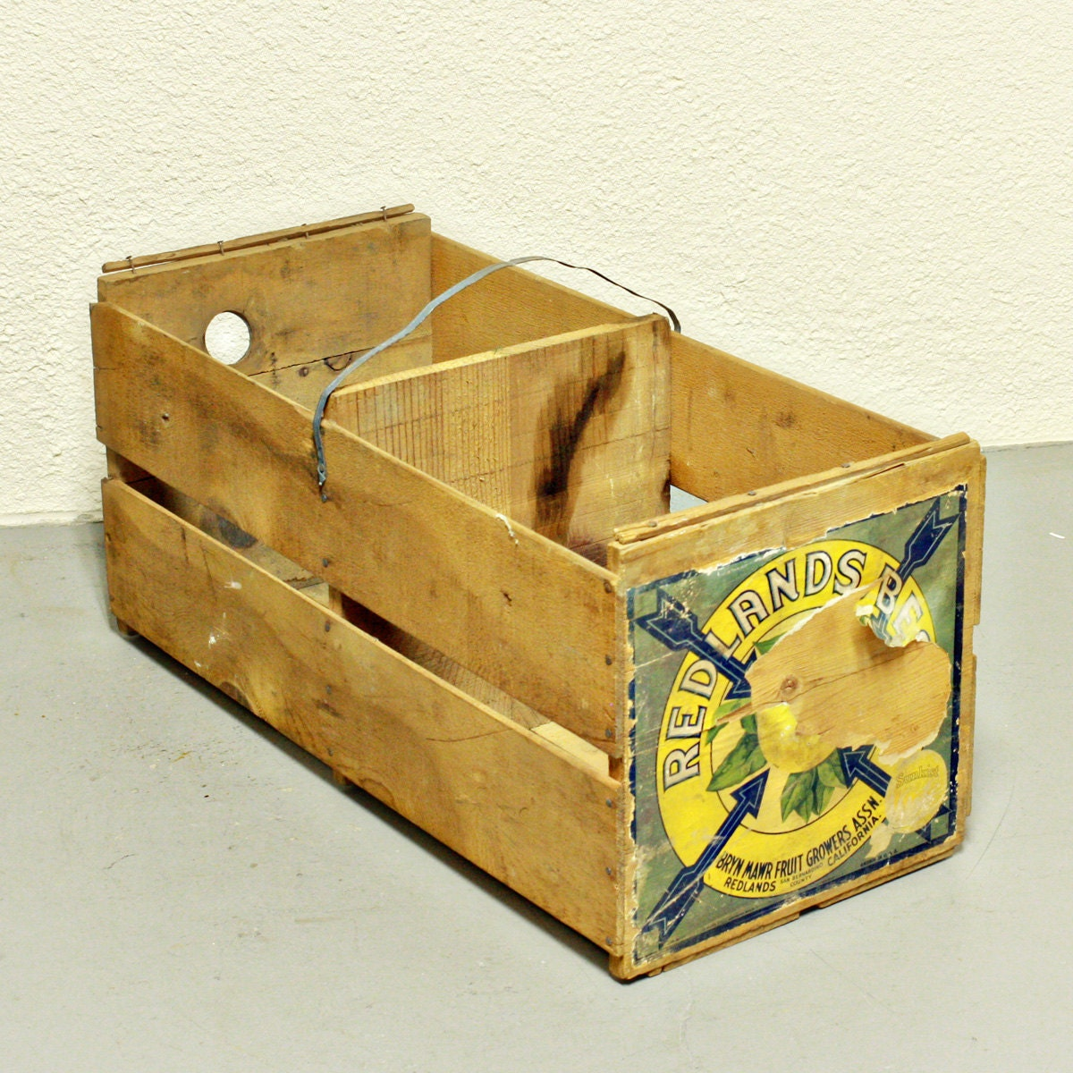 Vintage Wood Crate Orange Crate Produce Crate Redlands