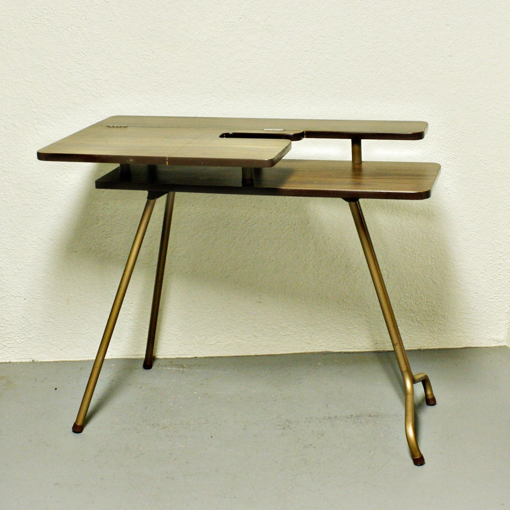 Vintage sewing table sewing machine table SP D-3 wood