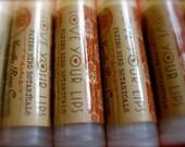 0206 vanilla rose cacao lip bliss, 100% organic, all natural lip balm