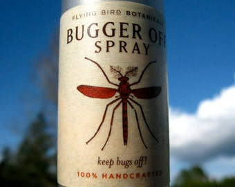 0209 bugger off...organic natural bug repellent spray. made with an essential oil blend to keep bugs off