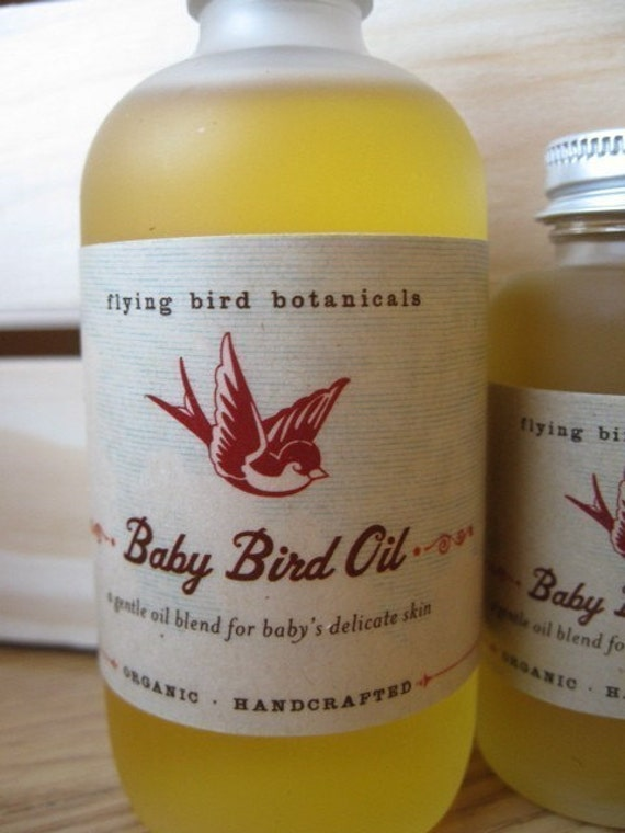 0234 4oz baby bird oil...natural, organic skin care for baby