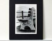 Don & Betty Met Here - Jersey Shore New Jersey beach ocean boardwalk romantic black and white Point Plesant Beach Photograph