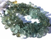 Get 25% Discount 1/2 Strand Natural Moss Aquamarine Faceted Pear Briolettes Size 11x7mm -12x8mm approx