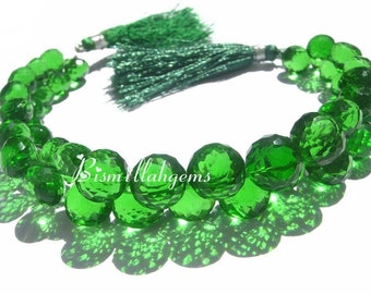 1/2 Strand AAA Green Quartz Micro Faceted Onion Briolettes Size- 8 - 10mm approx Semiprecious stone Beads Gemstone Beads