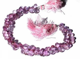 Full 8 Inches strand - Pink Mystic Quartz Faceted Tear Drop Briolettes 8x5 -9x5.5mm Great Quality Wholesale Price