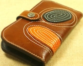 Wallet Leather - Brown map