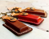 Ipod,flash drive case leather keyring personalized alphabet unisex / Men Gift