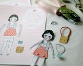 Georgie Paper Doll - Printable Posable Doll Kit PDF