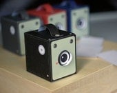 Vintage Box Cameras - includes all 4 colours - Printable PDF paper craft project