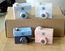 Printable SPECIAL - - 4 TOUGHIE Cameras - Printable Paper Craft PDF file (includes all 4 colours)