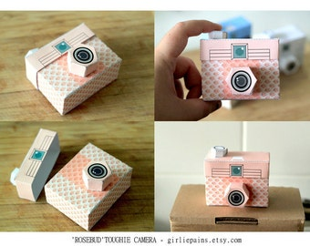 4 Paper Cameras - Printable PDF - TOUGHIE Cameras (Includes all 4 colours)