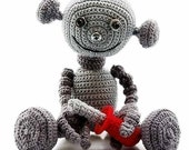 robot Anton Android , PDF Pattern by Katja Heinlein tutorial, for boys, amigurumi