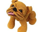 Baby Bulldog, PDF Häkelanleitung englische Bulldogge EB OEB by Katja Heinlein Anleitung Plattschnauze Bully Häkelmuster Hund Tier Bello