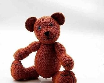 bear Alex Alaska, crochet PDF Pattern by Katja Heinlein Häkelanleitung Bär tutorial teddie plushie stuff toi ebook amigurumi digital file