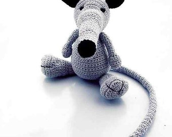 amigurumi rat sam, crochet PDF pattern tutorial animal file Häkelanleitung by Katja Heinlein