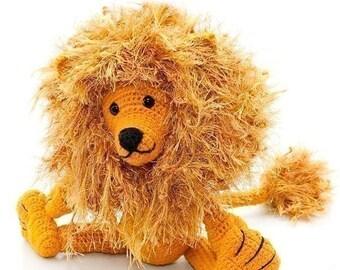 Leonimus Lion by Katja Heinlein, pdf tutorial file amigurumi animal leo wildcat zoo crochet pattern ebook