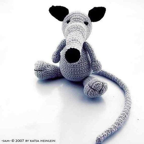 amigurumi rat sam crochet PDF pattern tutorial animal file