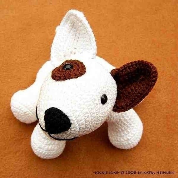 Amigurumi Dog Pattern : amigurumi dog bull terrier Jokie Joke PDF crochet pattern