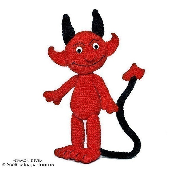 Damon Devil, PDF Pattern, amigurumi tutorial from Katja Heinlein