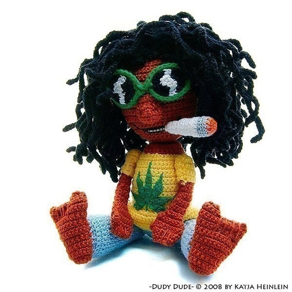 amigurumi pattern Dudy Dude Amigurumi Rasta Jamaica Cool by Katja Heinlein tutorial file man doll crochet figure ebook
