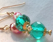 Sale- Save 20 Percent- Carnivale Earrings - Vintage Swarovski Crystal