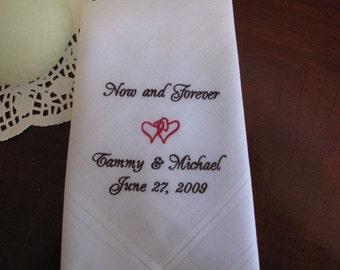 Personalized bride to groom handkerchief