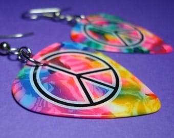 Summer of Love Guitar Pick Earrings