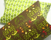 Larges pillow boxes with tags (set of 2)  - Cucumber Fiesta -