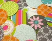 74 die cuts - Lime on Charcoal -