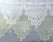 Wedding garland - VIVALDI custom color papel picado - sets of 2 banners
