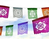 Mini Banner (2-Pack) Custom Color Papelitos Picados Banners