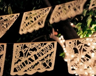 Papel picado banners - personalized custom color garland - TWILIGHT