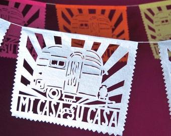 Airstream Papel Picado Banner, Mi Casa es Su Casa