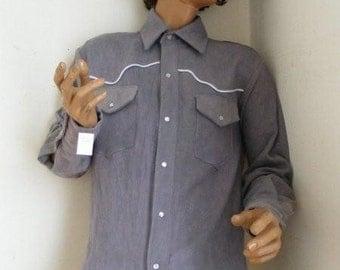 Hermans Hemp  cowboy western shirt L